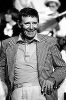 FILE PHOTO : Doris Lussier<br />  après la Victoire de Pierre-Marc Johnson lors du vote final de la course à la chefferie du Parti Québécois, le 29 septembre 1985<br /> <br /> PHOTO : Denis Alix -  Agence Quebec Presse
