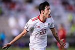 Sardar Azmoun of Iran celebrates scoring the team's first goal during the AFC Asian Cup UAE 2019 Group D match between Vietnam (VIE) and I.R. Iran (IRN) at Al Nahyan Stadium on 12 January 2019 in Abu Dhabi, United Arab Emirates. Photo by Marcio Rodrigo Machado / Power Sport Images