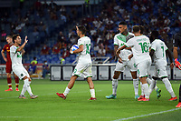 12th September 2021; Olympic Stadium, Rome, Italy, Serie A championship football, Roma versus Sassuolo ; Filip Djuricic of Sassuolo celebrates after scoring the goal for 1-1 in minute 57