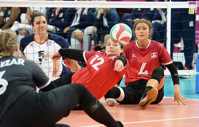 Amber Skyrpan and Jennifer Oakes, Lima 2019 - Sitting Volleyball // Volleyball assis.<br />