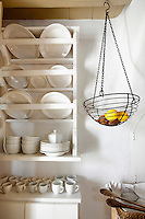 plate rack in the kitchen