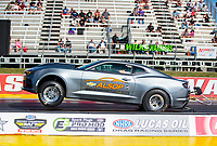 Sep 4, 2020; Clermont, Indiana, United States; NHRA factory stock driver Lindsay Wheelock during qualifying for the US Nationals at Lucas Oil Raceway. Mandatory Credit: Mark J. Rebilas-USA TODAY Sports