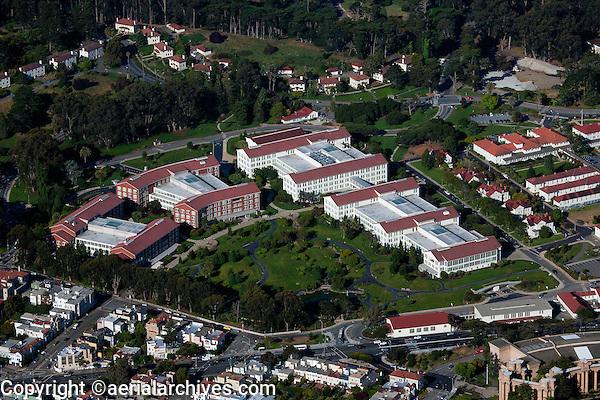 aerial photograph Lucasfilm Letterman Digital Arts Center Presidio of San Francisco