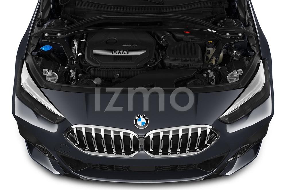 Car Stock 2020 BMW 2-Series M-Sport 4 Door Sedan Engine  high angle detail view