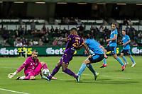 24th March 2021; HBF Park, Perth, Western Australia, Australia; A League Football, Perth Glory versus Sydney FC; Perth's Darryl Lachman has a shot on goal