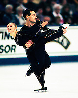 Danielle McGrath and Stephan Carr of Australia compete at the 1996 World Figure Skating Championships in Edmonton, Canada. Photo copyright Scott Grant
