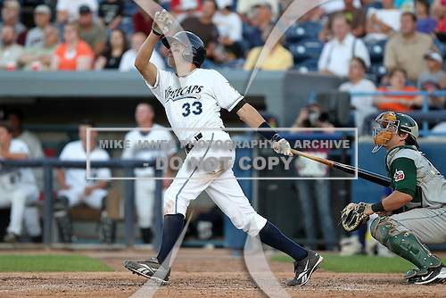 West Michigan Whitecaps third baseman Wade Gaynor (33) during a game vs. the Fort Wayne TinCaps at Fifth Third Field in Comstock Park, Michigan August 18, 2010.   Fort Wayne defeated West Michigan 5-1.  Photo By Mike Janes/Four Seam Images