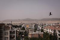 Vue des toits d'Adiyaman, en Turquie.