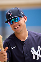New York Yankees Jose Colmenares (12) after an Extended Spring Training game against the Detroit Tigers on June 19, 2021 at Tigertown in Lakeland, Florida.  (Mike Janes/Four Seam Images)