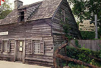 AJ4026, St. Augustine, schoolhouse, Florida, Oldest Wooden Schoolhouse in the United States in the old city of Saint Augustine in the state of Florida. St. Augustine is the oldest settlement in the United States.