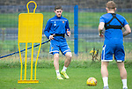 St Johnstone Training…04.09.19<br />Anthony Ralston pictured during training at McDiarmid Park with Liam Craig<br />Picture by Graeme Hart.<br />Copyright Perthshire Picture Agency<br />Tel: 01738 623350  Mobile: 07990 594431