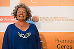 Tina Sainz poses for the photographers during 2015 Theater Ceres Awards photocall at Merida, Spain, August 27, 2015. <br /> (ALTERPHOTOS/BorjaB.Hojas)