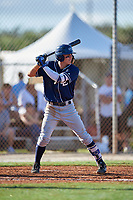 Dilan D Rosario during the WWBA World Championship at the Roger Dean Complex on October 19, 2018 in Jupiter, Florida.  Dilan D Rosario is a shortstop from Morovis, Puerto Rico who attends Leadership Christian Academy and is committed to Southern California.  (Mike Janes/Four Seam Images)