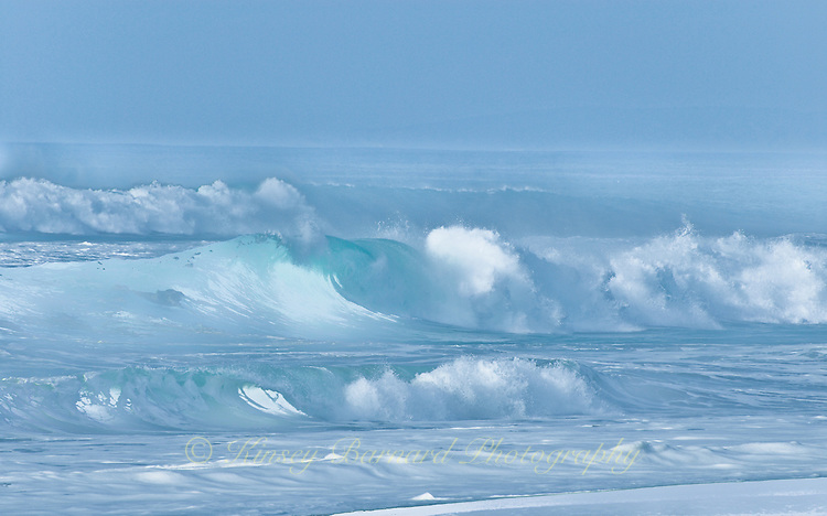 """""""CELESTIAL WAVES""""<br /> <br /> Rolling crashing waves come in from a stormy sea."""