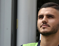Calcio, Serie A: Inter Milano-Parma, Giuseppe Meazza stadium, September 15, 2018.<br /> Inter's Mauro Icardi prior to the start of the Italian Serie A football match between Inter and Parma at Giuseppe Meazza (San Siro) stadium, September 15, 2018.<br /> UPDATE IMAGES PRESS/Isabella Bonotto