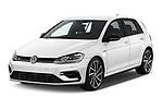 2019 Volkswagen Golf R 5 Door Hatchback Angular Front stock photos of front three quarter view
