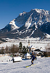 Austria, Tyrol: Lermoos and Zugspitze mountain - Ski run