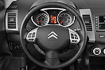 Steering wheel view of a 2007 - 2012 Citroen C-CROSSER Exclusive  SUV 4WD