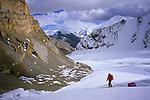 Ski descent of the Bhrikuti Glacier, Damodar Himal, 2008