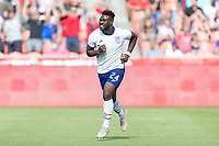 SANDY, UT - JUNE 10: Daryl Dike #24 of the United States scores a goal and celebrates during a game between Costa Rica and USMNT at Rio Tinto Stadium on June 10, 2021 in Sandy, Utah.