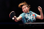Ying Hang of Germany vs Yuling Zhu of China at the Women's Doubles Final match during the Seamaster Qatar 2016 ITTF World Tour Grand Finals at the Ali Bin Hamad Al Attiya Arena on 11 December 2016, in Doha, Qatar. Photo by Victor Fraile / Power Sport Images