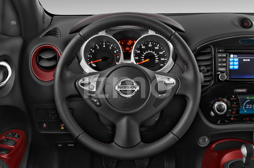 Car pictures of steering wheel view of a 2017 Nissan JUKE SV 5 Door SUV Steering Wheel