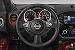 Car pictures of steering wheel view of a 2017 Nissan JUKE SV 5 Door SUV Steering Wheel