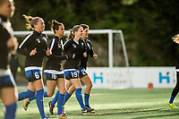 Seattle, Washington -  Saturday April 22, 2017: Seattle Reign FC during a regular season National Women's Soccer League (NWSL) match between the Seattle Reign FC and the Houston Dash at Memorial Stadium.