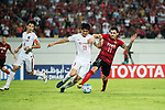 Guangzhou Forward Ricardo Goulart (R) in action against Shanghai FC Defender Wei Zhen (L) during the AFC Champions League 2017 Quarter-Finals match between Guangzhou Evergrande (CHN) vs Shanghai SIPG (CHN) at the Tianhe Stadium on 12 September 2017 in Guangzhou, China. Photo by Marcio Rodrigo Machado / Power Sport Images
