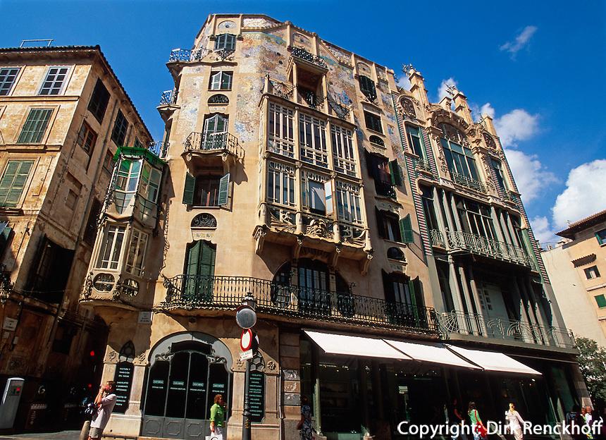 Spanien, Mallorca, Jugendstil-Haus Can Rei und Can L'Aguila  in  Palma de Mallorca