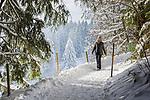 Deutschland, Oberbayern, Chiemgau, zwischen Siegsdorf und Ruhpolding: Winterspaziergang | Germany, Upper Bavaria, Chiemgau, between Ruhpolding and Siegsdorf: winter scenery, walking