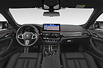 Straight dashboard view of a 2021 BMW M5 Competition 4 Door Sedan