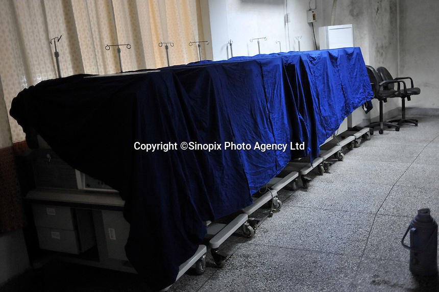 Incubators lined up at the Chengdu Giant Panda Breeding and Research Base, China..