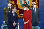 Queen Letizia of Spain (r) with the Mayor of Madrid, Jose Luis Martinez-Almeida, during the act on the occasion of the festival of 'San Juan Bautista', Patron of the Municipal Police of Madrid. June 24, 2021 (ALTERPHOTOS/Acero)