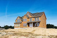 New home construction, New Jersey, USA.