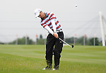 Ross Fisher (England) hits a shot out of the rough on the first hole..ISPS Handa Wales Open 2012 - Day 4 - Sunday 3rd June 2012 - Twenty Ten Course, Celtic Manor Resort - Newport - Wales - UK ..© www.sportingwales.com- PLEASE CREDIT IAN COOK