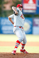 July 13, 2009:  Starting Pitcher Nicholas Additon of the Palm Beach Cardinals delivers a pitch during a game at Hammond Stadium in Ft. Myers, FL.  Palm Beach is the Florida State League High-A affiliate of the St. Louis Cardinals.  Photo By Mike Janes/Four Seam Images