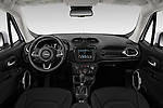 Stock photo of straight dashboard view of 2019 JEEP Renegade Latitude 5 Door SUV Dashboard