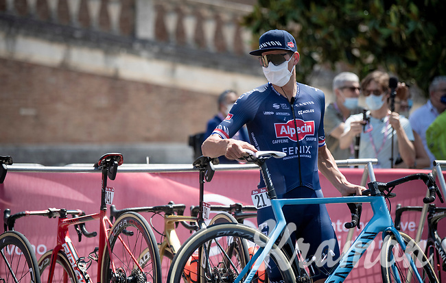 Mathieu Van der Poel (NED/Alpecin-Fenix) <br /> <br /> 14th Strade Bianche 2020<br /> Siena > Siena: 184km (ITALY)<br /> <br /> delayed 2020 (summer!) edition because of the Covid19 pandemic > 1st post-Covid19 World Tour race after all races worldwide were cancelled in march 2020 by the UCI