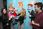 "Veronica J. Kuehn and Matt Dengler with Avenue Q & Puppetry Fans during ""Avenue Q"" Celebrates World Puppetry Day at The New World Stages on 3/21/2019 in New York City."