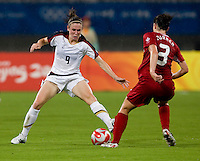 Heather O'Reilly, Emily Zurrer. The USWNT defeated Canada in extra time, 2-1, during the 2008 Beijing Olympics in Shanghai, China.