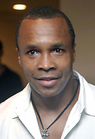6-4-2003 Miami, FL<br /> Sugar Ray Leonard announced that he and Angelo Dundee will co-train and promote fighter Juan Carlos Gomez (36-0 with 31 KO's) at the Shelbourne Hotel in South Beach.<br /> Photo by Adam Scull/PHOTOlink