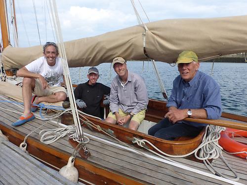 Mysfanwys successful crew in 2017 were (left to right), Max Mason (Rob's son), Gus Stott, Andy Whitcher, and Rob Mason. Photo: W M Nixon