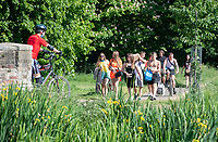 SIDCUP, KENT, ENGLAND - 21 MAY 2020<br /> .<br /> Brits enjoy the hot weather during the current government restricted lockdown of the COVID-19 worldwide pandemic with includes keeping a social distance of 2 metres at Foots Cray Meadow, Sidcup, England on 21 May 2020. Photo by Alan Stanford.