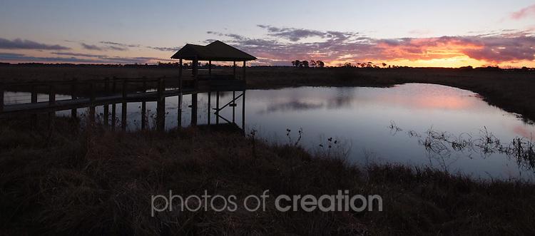Days End on Mother of Ducks Lagoon Guyra NSW