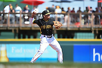 Pittsburgh Pirates infielder Gustavo Nunez (67) during a Spring Training game against the Minnesota Twins on March 13, 2015 at McKechnie Field in Bradenton, Florida.  Minnesota defeated Pittsburgh 8-3.  (Mike Janes/Four Seam Images)