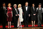 "Nick Choksi, Holley Fain, Henry Winkler, Anne Heche, Alec Baldwin, Julie Halston and Dan Butler with cast during the Roundabout Theatre Company One-Night Only Benefit Reading Curtain Call for  ""Twentieth Century"" at Studio 54 on April 29, 2019 in New York City."