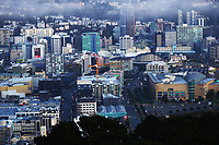 Wellington city from Mount Victoria at 6.30am during Level 3 lockdown for the COVID-19 pandemic in Wellington, New Zealand on Friday, 3 September 2021.