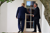 United States President Donald J. Trump and Mark Meadows, Assistant to the President and Chief of Staff, depart the Oval Office before walking to the South Lawn of the White House before boarding Marine One in Washington, D.C., U.S., on Thursday, September 24, 2020. <br /> CAP/MPI/RS<br /> ©RS/MPI/Capital Pictures