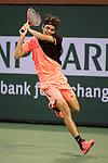 March 12, 2018: Taylor Fritz (USA) defeated Fernando Verdasco (ESP) 4-6, 6-2, 7-6(1) at the BNP Paribas Open played at the Indian Wells Tennis Garden in Indian Wells, California. ©Mal Taam/TennisClix/CSM
